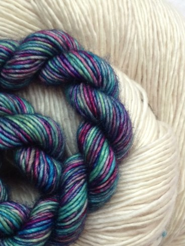 Unicorn Tail Mandela on Merino Light Antler