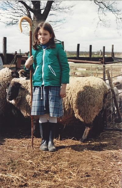 Rachel the shepherd - Image Courtesy of Rachel Atkinson www.mylifeinknitwear.com . Loop,London. www.loopknitlounge