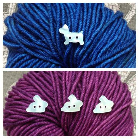 Dog and Rabbit Buttons on Hudson. Loop, London. www.loopknitlounge.com