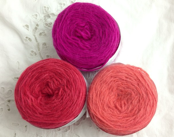 CW from Top -Magenta, Scarlet, Ruby