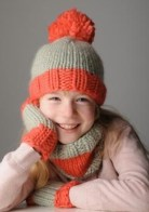 Kid's Hat, Snood and Mitts