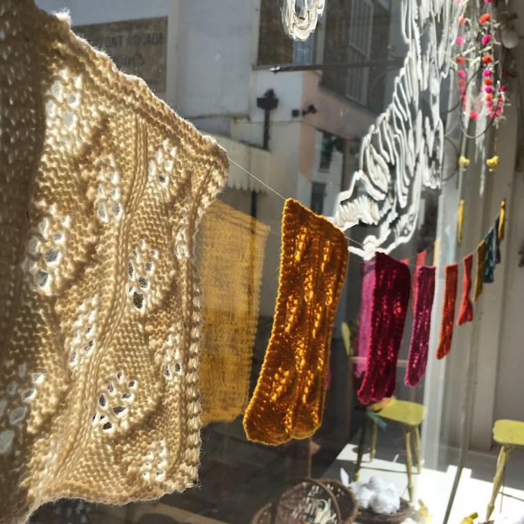 Dandelion Yarn Swatches at Loop London