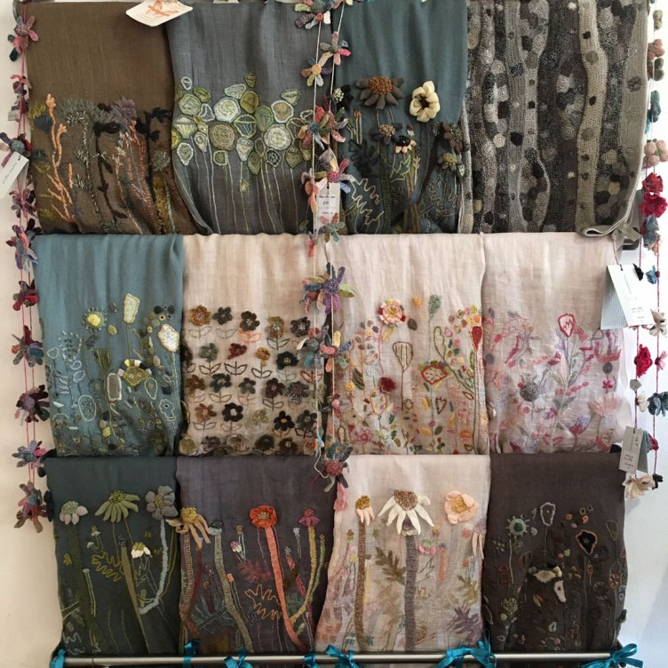 Sophie Digard Linen-embroidered-shawls at Loop London