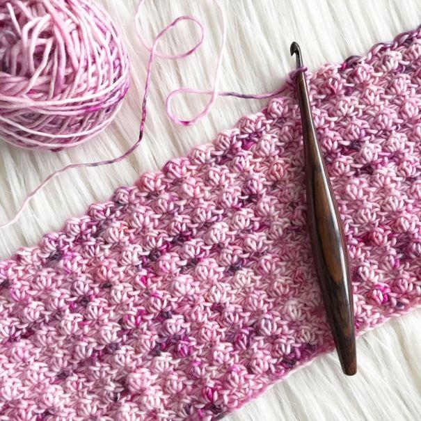 Rosewood Furls Crochet Hook at Loop London