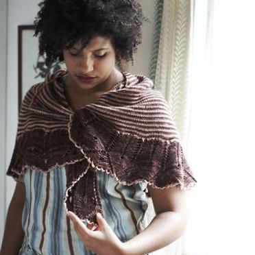 Brown eyed shawl at Loop London