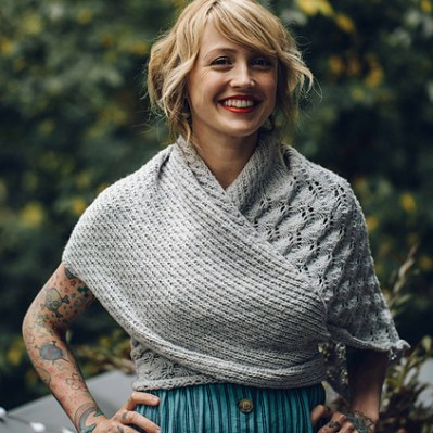 Hoarfrost shawl at Loop London