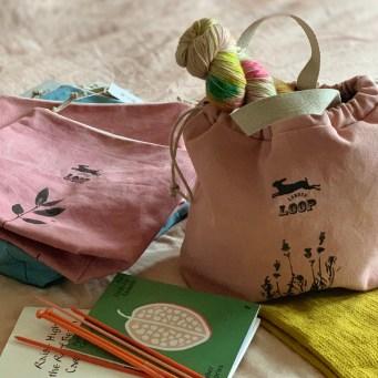Kaliko botanially dyed project bags at Loop London