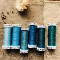 Au Ver A Soie Metallic thread set in Ice Blue at Loop London