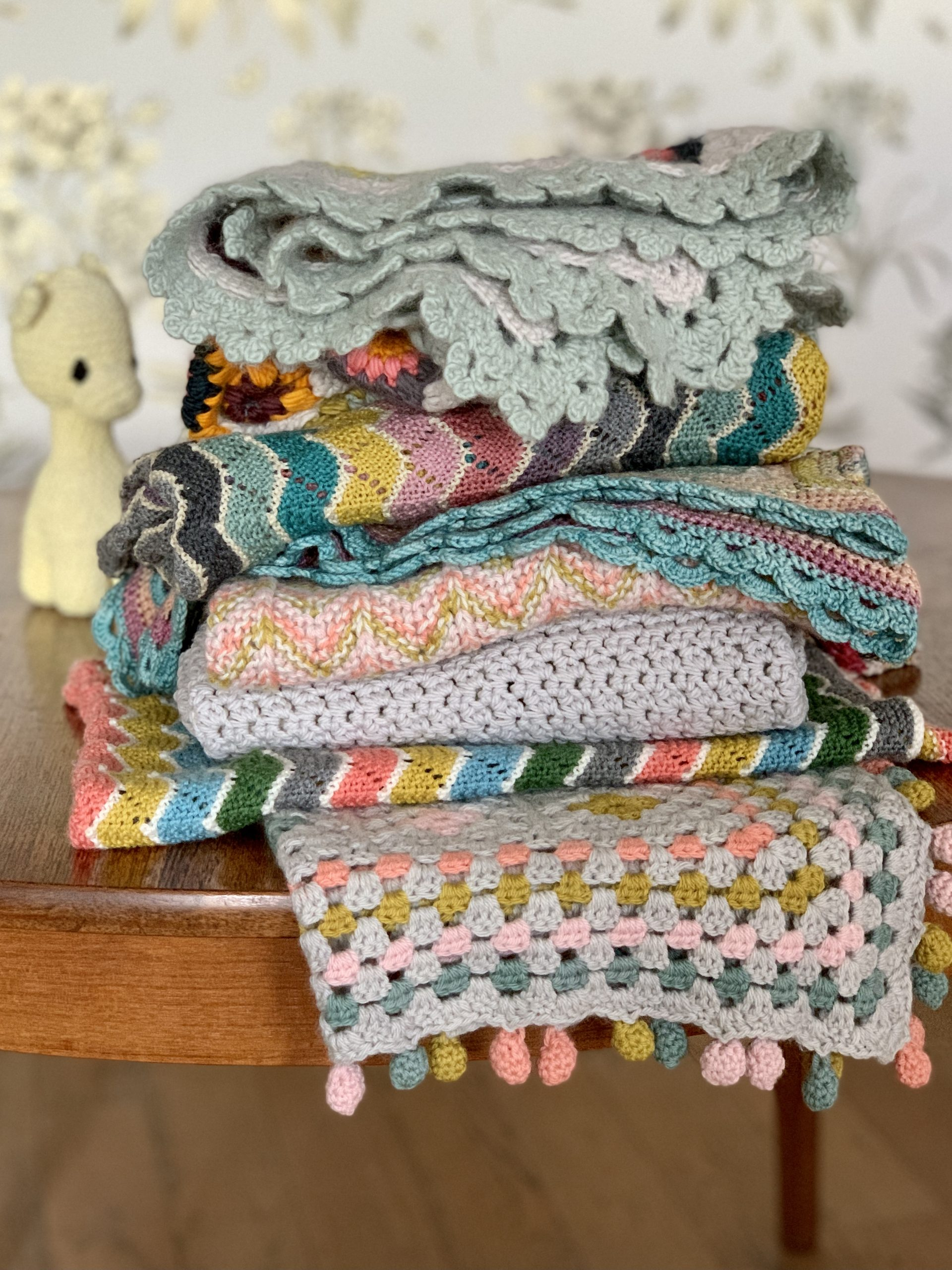 Comfort in knitting &crochet with beautiful blankets