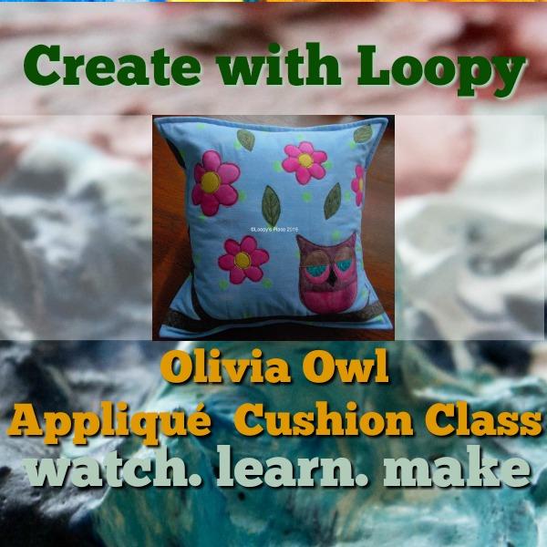 Olivia Owl Appliqué Cushion Class Loopys Place