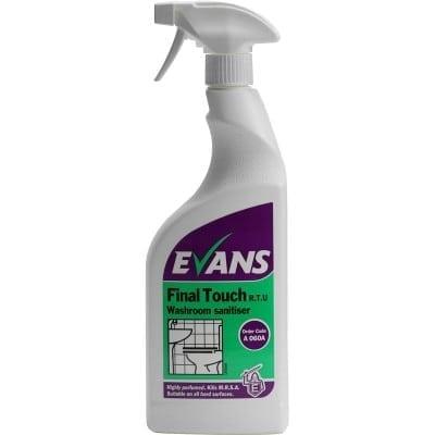 Evans - Final Touch Washroom Sanitiser 750ml - 6 x 750ml