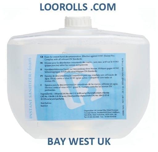 Bay West Instant Foam Sanitiser 800ml