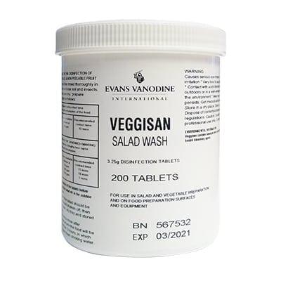 Evans - VEGGISAN Disinfection Tablets - Tub 200