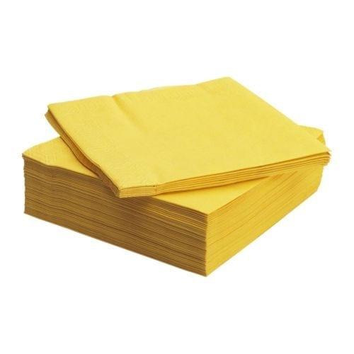 Loorolls.com 40cm 2ply Yellow Serviettes