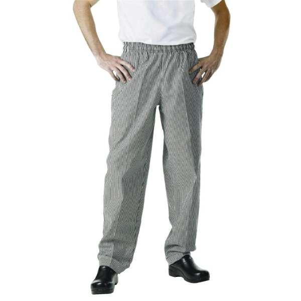 Chef Works Unisex Easyfit Pants Small Black Check Polycotton - Size L-0