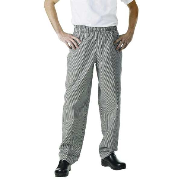 Chef Works Unisex Easyfit Pants Small Black Check Polycotton - Size S-0