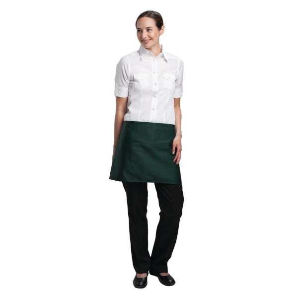 Uniform Works Bistro Apron Green - 750x373mm-0