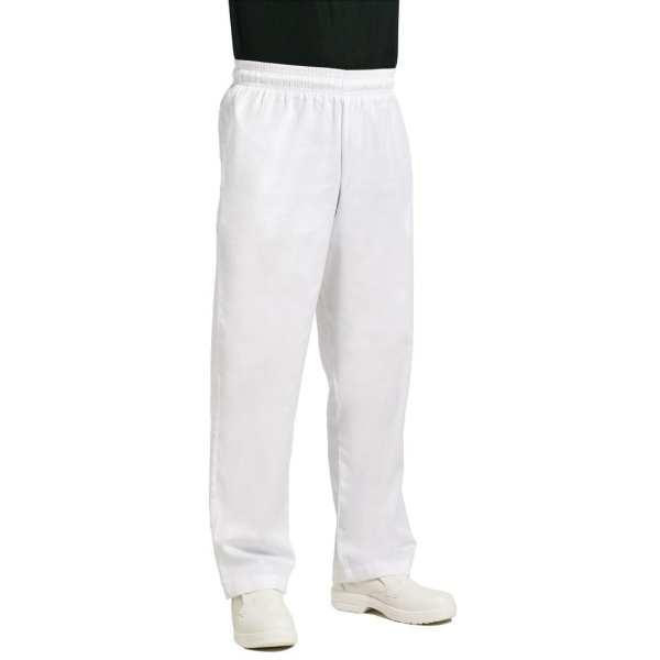 Chef Works Unisex Easyfit Pants White Polycotton - Size L-0