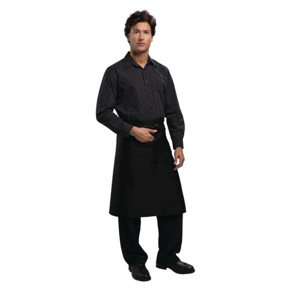 Uniform Works Bistro Apron Black - 1000x700mm-0