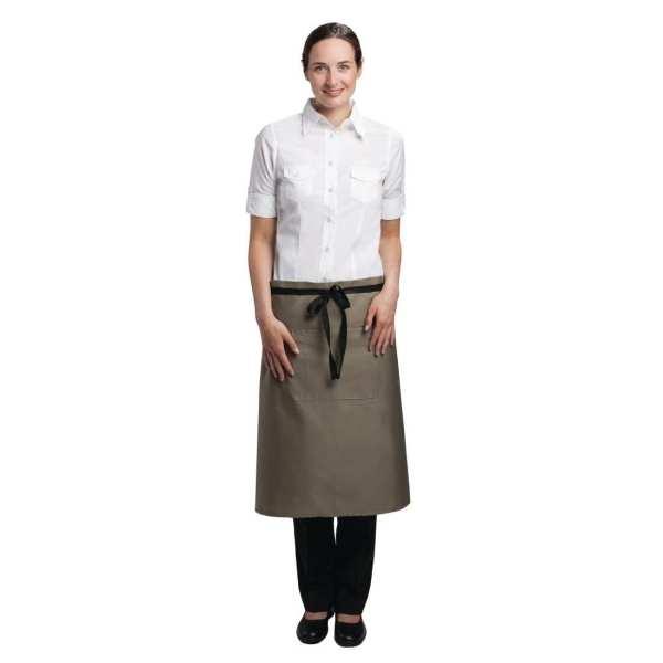 Uniform Works Bistro Apron Olive - 1000x700mm-0