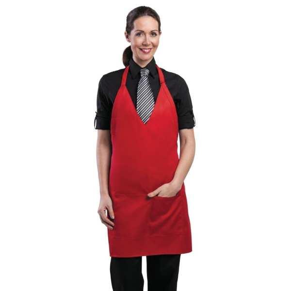 Uniform Works Unisex Tuxedo Apron Red-0