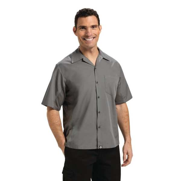 Chef Works Cool Vent Chef Shirt Polycotton Grey (CSMV) - Size XXL (B2B)-0