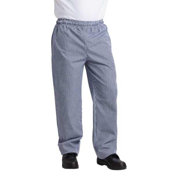 Vegas Small Blue & White Check Trousers Polycotton - Size XS-0