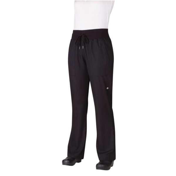 Chef Works Womens Comfi Pants Black (PW004BLK) - Size S (B2B)-0