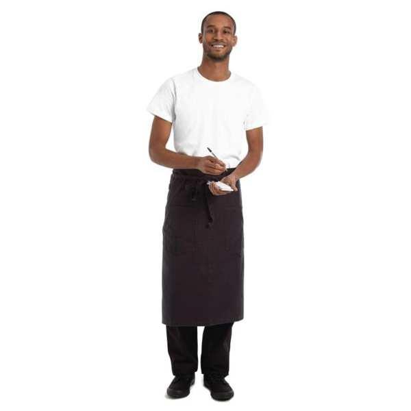 Chef Works Rockford Canvas Bistro Apron Steel Grey (B2B)-0