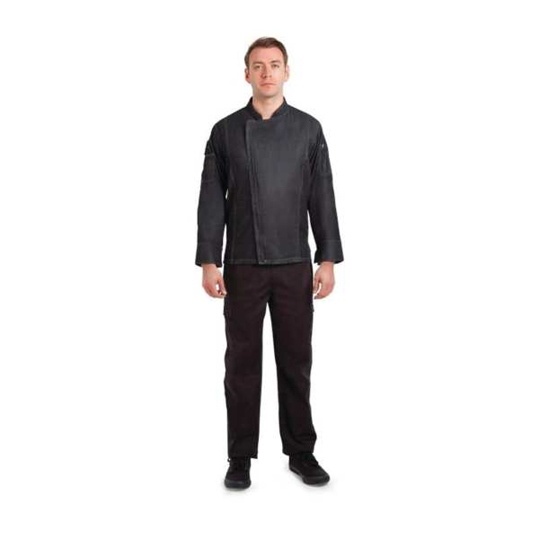 Chef Works Gramercy Denim Jacket - Size M (B2B)-0