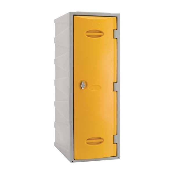 Extreme Modular Plastic Locker - 900mm high Yellow Hasp & Staple Lock (Direct)-0