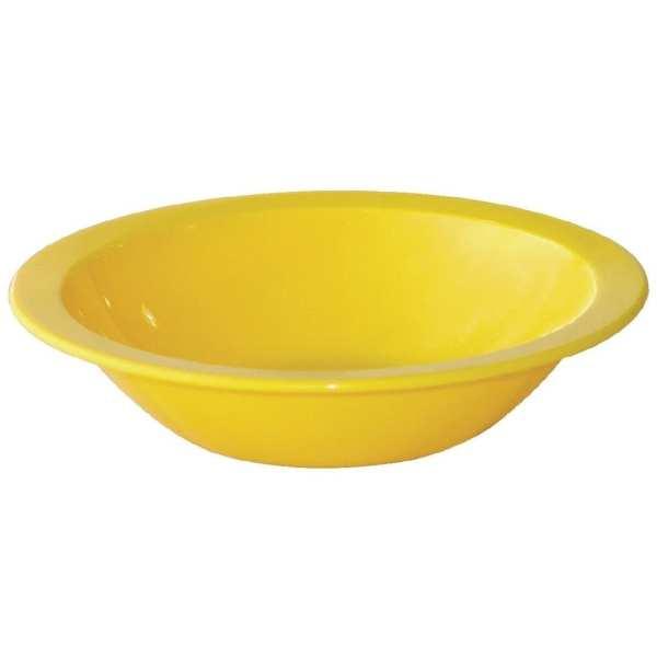 """Kristallon Polycarbonate Bowl Yellow - 400ml 14oz 6 3/4"""" (Box 12)-0"""