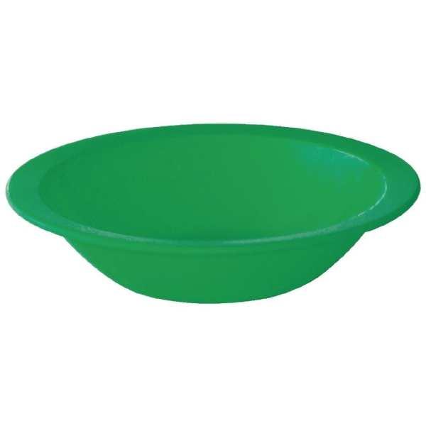 """Kristallon Polycarbonate Bowl Green - 400ml 14oz 6 3/4"""" (Box 12)-0"""