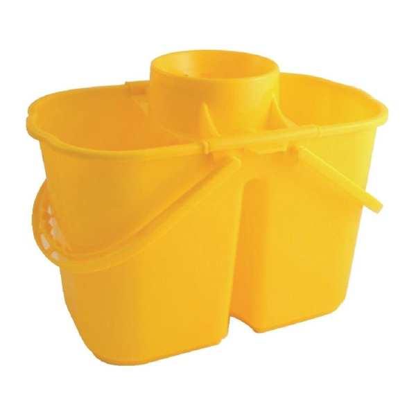 Double Mop Bucket & Wringer Yellow