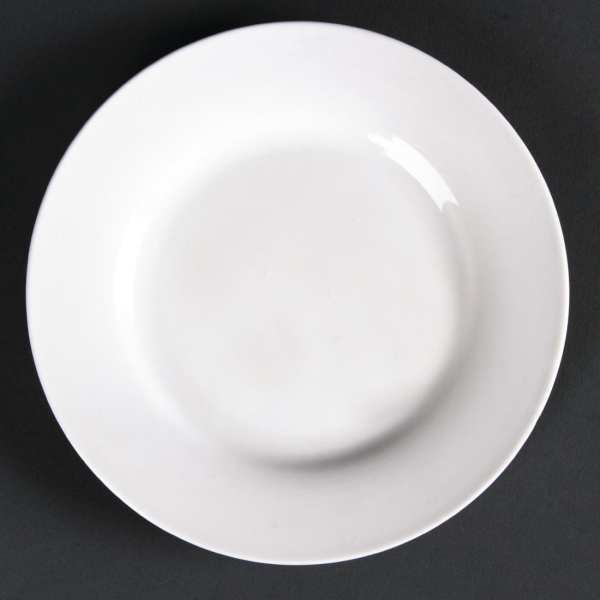 Lumina Fine China Wide Rimmed Round Plate - 152mm 6'' (Box 6)-0