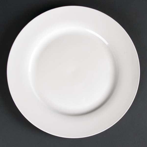 Lumina Fine China Wide Rimmed Round Plate - 270mm 10 1/2'' (Box 4)-0