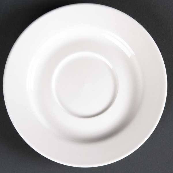 Lumina Fine China Round Saucer - 143mm for 8oz cup (Box 6)-0