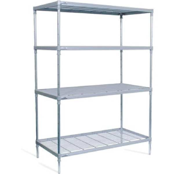 Craven 4tier Nylon Coated Wire Shelving - 875x390x1700mm (Direct)-0