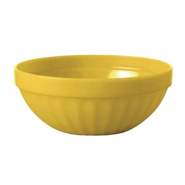 "Kristallon Polycarbonate Bowl Yellow - 190ml 6.7oz 102mm 4"" (Box 12)-0"