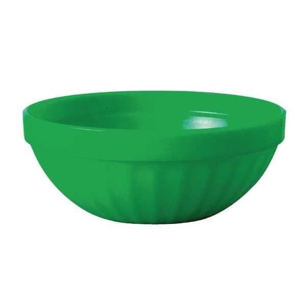 """Kristallon Polycarbonate Bowl Green - 190ml 6.7oz 102mm 4"""" (Box 12)-0"""