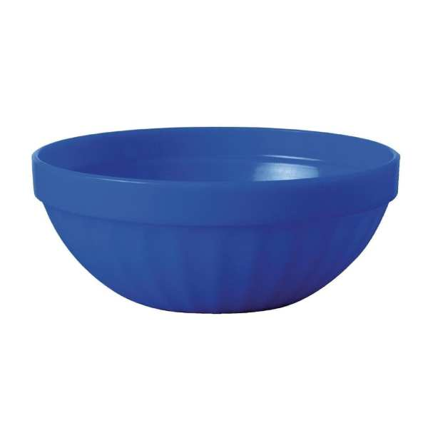 "Kristallon Polycarbonate Bowl Blue - 190ml 6.7oz 102mm 4"" (Box 12)-0"