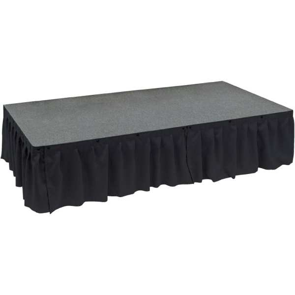 Valance 1m x 230mm deep Black for Ultralight Staging (Direct)-0