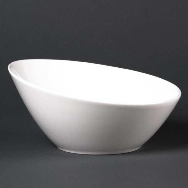 """Lumina Fine China Round Sloping Bowl - 630ml 8"""" (Box 6)-0"""