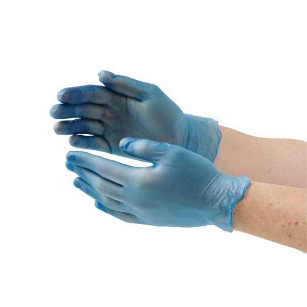 Vinyl Gloves - Powder Free Blue - Small - Box 100