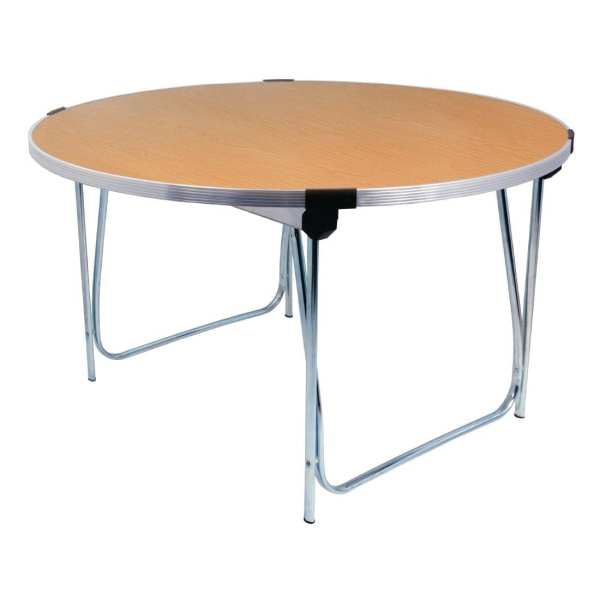Gopak 1220mm dia Round Table (Saxon Oak Effect) - 635mm Junior Height (Direct)-0