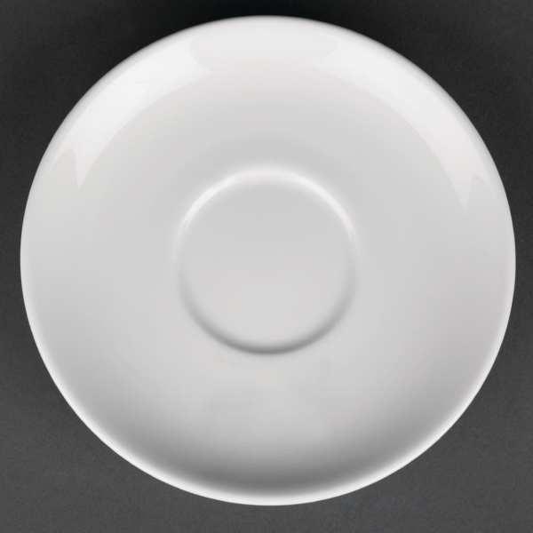 """Royal Porcelain Classic Tea/Soup Saucer White - 150mm 6"""" (Box 12)-0"""