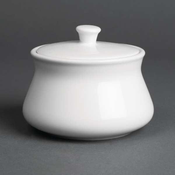 Royal Porcelain Classic Sugar Bowl with lid White - 8.8oz 250ml (Box 12)-0