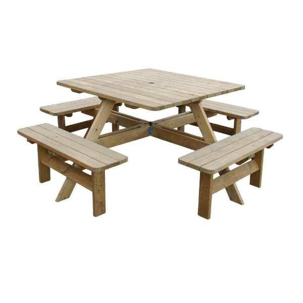 Square Picnic Table (Direct)-0