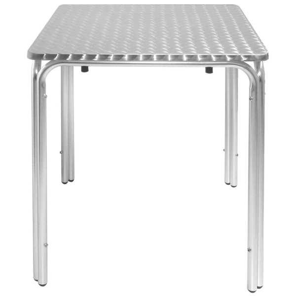 Bolero Square Stacking Bistro Table St/St Top - 600mm-0