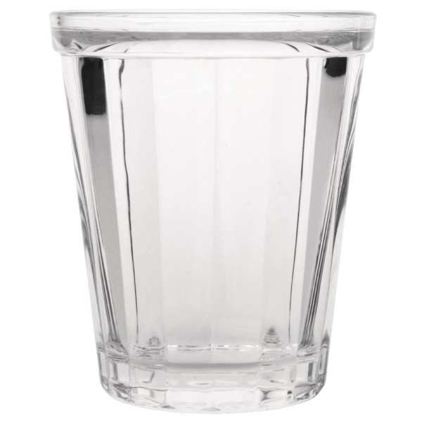 Olympia Cabot Panelled Glass Tumbler Clear - 260ml 9oz (Box 6)-0